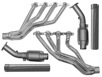 "2004 GTO Coated 1-3/4"" Long-Tubes Headers - High-Flow Cats/Downpipes"