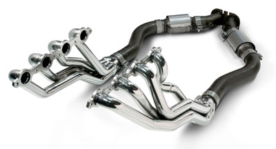 "2005-2006 GTO Coated 1-3/4"" Long-Tubes Headers - High-Flow Cats/Downpipes"
