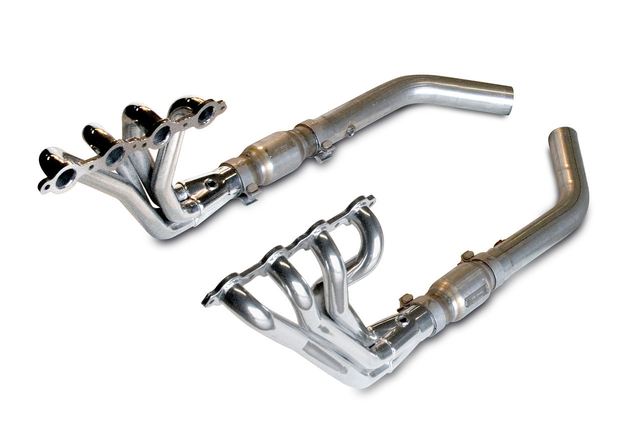 "2010-2015 Camaro V8 Coupe Header Package - 1-3/4"" Long Tube Header with High-Flow Cats"