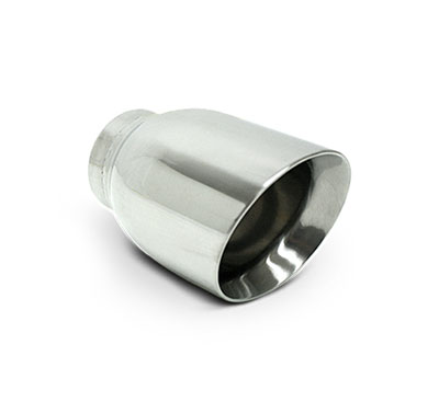 "Universal Polished 3.5"" Double-Wall Exhaust Tip 2.5"" Inlet - Each"