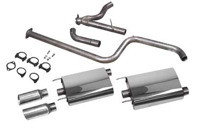 "1997-2008 Grand Prix PowerFlo Exhaust System - 3.5"" Slash Tips"
