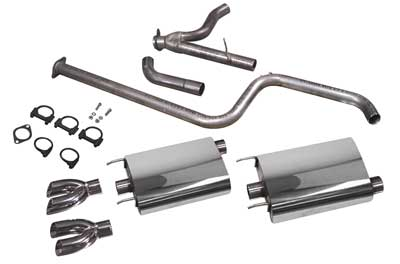 1997-2008 Grand Prix PowerFlo Exhaust System - Dual/Dual Tips