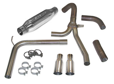 "1998-2002 Camaro/Firebird LS1 LoudMouth Exhaust System - 3.5"" Slash Tips"