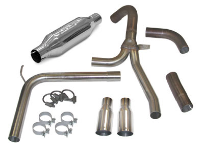 "1998-2002 Camaro/Firebird LS1 LoudMouth II Exhaust System - 3.5"" Slash Tips"