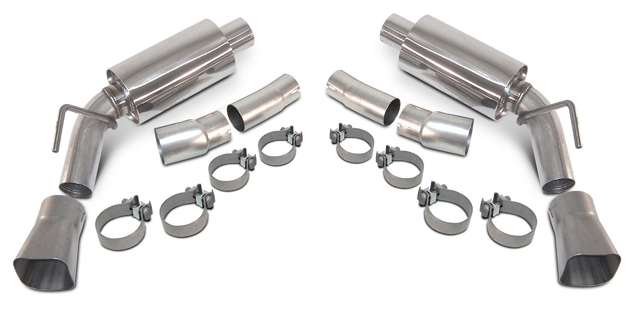 2010-2015 Camaro V6 LoudMouth II Axle Back Exhaust with Square Tips Image #
