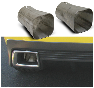 2010-2015 Camaro V6 LoudMouth II Axle Back Exhaust with Square Tips