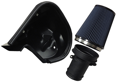 2010-2015 V8 SS/1LE Camaro Blackwing SLP Supercharger Cold Air Induction Kit w/Black Filter Image #