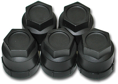 Lugnut Package with Black Caps
