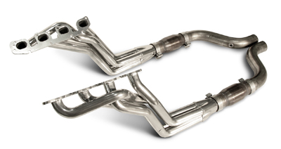 2005-2007 Charger/Magnum/300 SRT 6.1L Coated Long Tube Headers, High-Flow Cats
