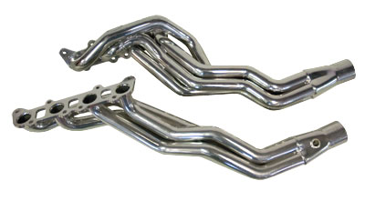 2011-2014 Mustang GT Long Tube Header Package - Cats, PowerFlo-X Crossover Pipe Image #